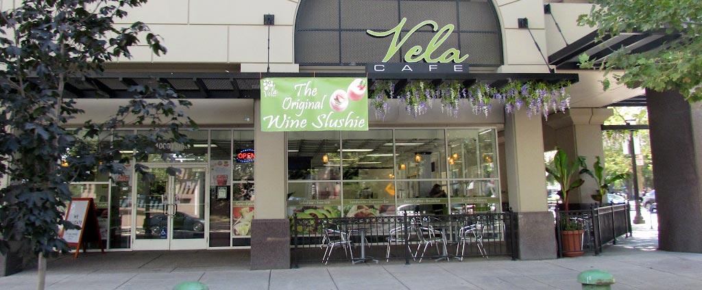 Outside Vela Cafe
